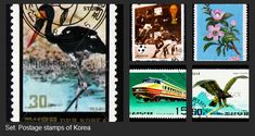 #Images that you can find on #Shutterstock. #Postage #stamps of #Korea