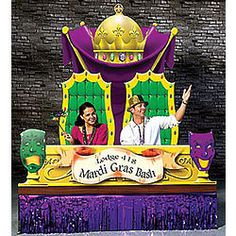Personalized Mardi Gras Photo Op Display $32.99