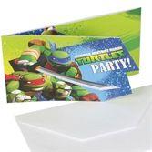 Coole Einladungskarten für den Teenage Mutant Ninja #kindergeburtstag