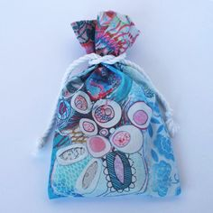Original Designer Fabric Wrap Bag for Oracle Cards - Aquatic Soul Dance - Limited Edition