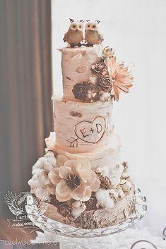 woodland themed wedding cakes 2
