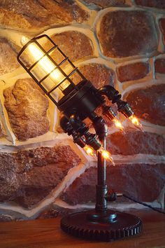 Rocket Lamp by Jeffrey Press Industrial $350 free shipping - made to order