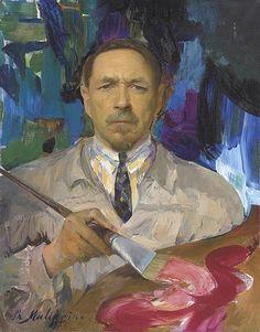 Self-Portrait, 1927 (Filipp Maliavin) (1869-1940) Christie's Sale 8003, Lot 95