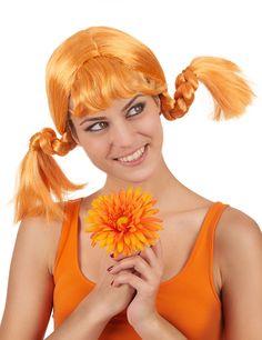Peluca coletas pelirroja mujer  Esta peluca es para adulto.Es de pelo sintético  pelirrojo bc49442555c4