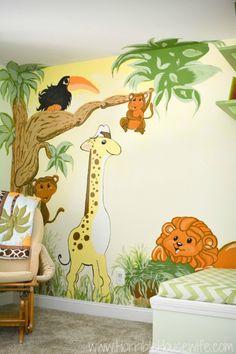 Jungle mural in a ge