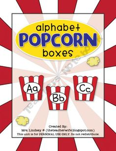 """I've always had a """"popcorn"""" word wall because some words (Dolch words) just pop up everywhere and you just need to know them. This teacher has done such a fantastic job with the graphics!"""