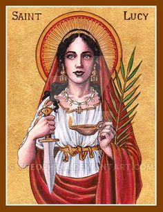 """Saint Elizabeth of Hungary Icon December 19th 2012 Watercolor, Ink and Gold Leaf """"As in heaven Your will is punctually performed, so may it be done on earth by all creatures, particularly in me and..."""