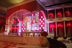 the-royal-indian-wedding - FNP Gardens Royal Wedding Themes, Royal Indian Wedding, Wedding Stage Decorations, New Theme, Stage Design, Event Decor, Luxury Wedding, Backdrops, Wedding Venues
