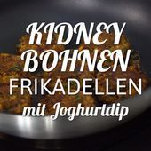 Kidneybohnen-Frikadellen mit Joghurtdip A particularly tasty vegetarian alternative to classic meatballs: kidney bean meatballs with yoghurt dip Healthy Desserts, Healthy Dinner Recipes, Frijoles, Albondigas, Kidney Beans, Healthy Recipes For Weight Loss, Eat Smarter, Thanksgiving Recipes, Casserole Recipes