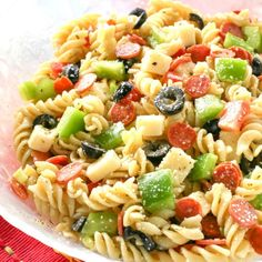 Pizza Pasta Salad - We compiled a list of 67 of the best pasta salad recipes around the web. | Savorystyle.com