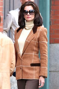 "Katie Holmes dressed as Jackie Kennedy while on set of filming her new TV Mini Series ""The Kennedys: After Camelot"" in Toronto, Canada, on May 12, 2016"