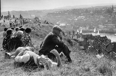 Overlooking Whitby harbour. England, 1974. | Magnum Photos Store Magnum Photos, Sunny Sunday, Sunny Afternoon, Ian Berry, Elliott Erwitt, Photographer Portfolio, Couples In Love, Perfect Photo, The Guardian
