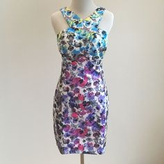 Wow Couture L Floral Print Dress Nwt