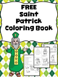Preschool or Kindergarten Reading or Writing Activity - Saint Patricks Day Coloring Pages -Have fun and learn too!