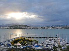 Pôr do sol (sunset) em Florianópolis vista da ilha, sobre o VELEIROS para o continente...
