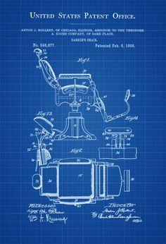Anchor Patent Wall Art Nautical Patent Art Prints