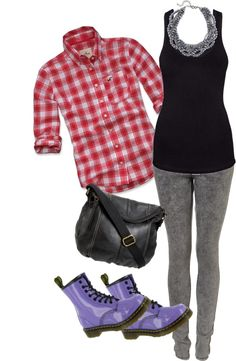"""""""Wardrobe planner: The purple boots"""" by cerezadecristal on Polyvore"""