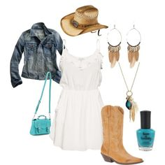 Classy Cowgirl, country summer concert outfit! Outfits like this are why I wanna get fit...