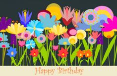 free printable happy birthday art card