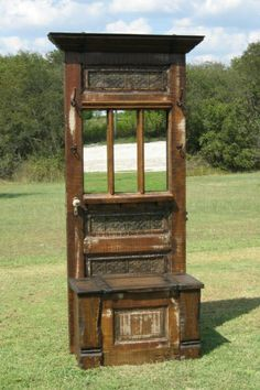 hall tree from salvage door | Hall Tree made from a salvaged door | Home and Garden