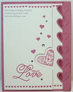 Love Notes Framlits, the Sealed with a Kiss stamp set and the Sending Love Designer Series Paper Stack.
