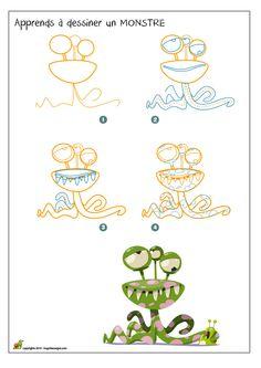 Apprends à dessiner un monstre
