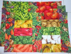 Vegetarian Mixed Vegetable  Reversible by ColdStreamCrafts on Etsy