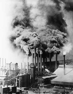 This is just a picture of a factory in the industrial revolution that could give students a little bit of a glimpse of exactly how much pollution that time period had on the environment. Also the students could see how humans were causing this pollution. Steel Mill, Salford, Industrial Photography, Pittsburgh Pa, British History, American History, Native American, Zeppelin, World History