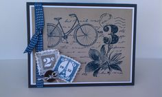 """I am loving the new stamp set, """"Postage Due"""". As you have seen in my previous post, you can use it for a fun, feminine card and you can a..."""