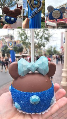 Mini Food Crawl: The Sparkliest Diamond Desserts at Disneyland - To paraphrase a popular song, diamonds and food are this editor's best friends. Disney Desserts, Disney Snacks, Cute Desserts, Comida Disneyland, Disneyland 60th, Disneyland Secrets, Disney Themed Food, Disney World Food, Pastel Mickey