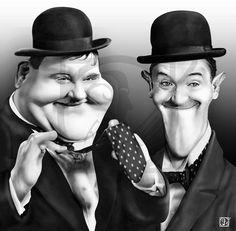 Stan Laurel caricature