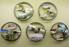 Inspiração: Mural de rodas   Dicas de Decoração   Blog de Decoração LojasKD