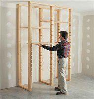 DIY adjustable shelving