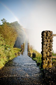 Pathway in Zambia at Victoria Falls... I miss Zambia So Much!