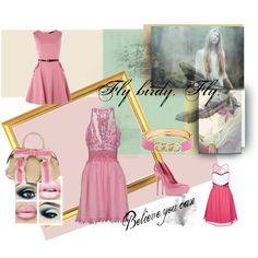"""""""pink!"""" by bilbomex on Polyvore Mega Fashion, Polyvore, Pink, Pink Hair, Roses"""