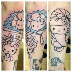 In progress, full Sleeve Hello Kitty ☺️#tattoo #tatouages #bordeaux #bordeauxmaville #jackytatouages #france