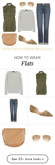 """""""Simple Layered Style"""" by thelifeoftheparty on Polyvore featuring Elizabeth and James, J.Crew, Ray-Ban, Paige Denim, Dr. Scholl's and Topshop"""