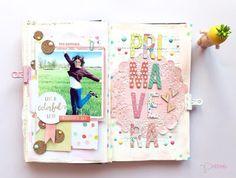 GANADORA RETO MAYO - 12 MESES, 1 PROJECT BOOK Mini Scrapbook Albums, Scrapbook Page Layouts, Scrapbook Paper, Mini Albums, Washi, Travel Album, Travel Planner, Diy Crafts For Girls, Book Journal