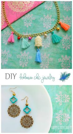 DIY bohemian chic jewelry