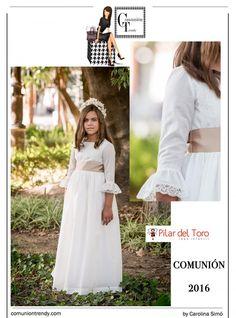 Vestidos de Comunión, Pilar del Toro, Comunión Trendy, Primera Comunión Trajes, 2