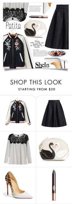 """""""Black Opium"""" by violet-peach ❤ liked on Polyvore featuring Kate Spade, Christian Louboutin, Charlotte Tilbury and LSA International"""