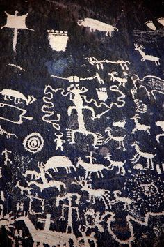 Petroglyphs from the desert southwest.