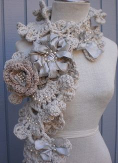 Gorgeous crocheted scarf