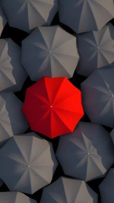 Umbrellas Red Gray Iphone 6 Plus Wallpaper Minimalist Phone