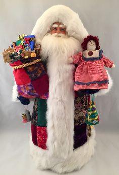Quilting Santa Claus by DianesHeirloomSantas on Etsy