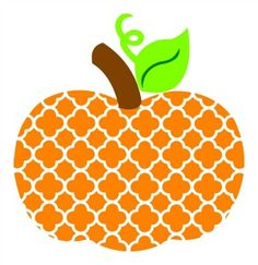 Quatrefoil Pumpkin SVG