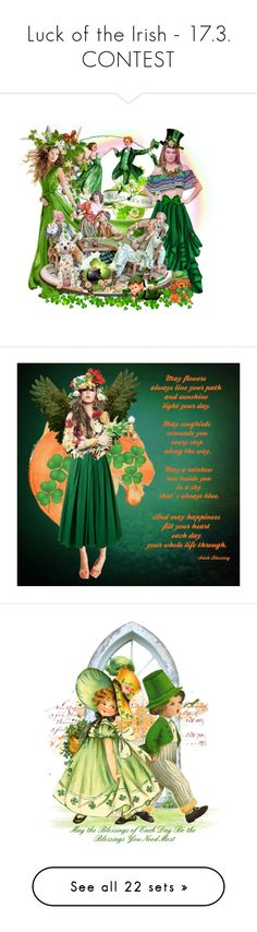 """Luck of the Irish - 17.3. CONTEST"" by sabine-713 ❤ liked on Polyvore featuring art, GREEN, http, Pulpo, Jonathan Simkhai, éS, Christian Brands Gift, Lulu in the Sky, polyvoreeditorial and stpatricksday"