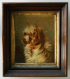 Antique Oil Painting Of Sweet Terrier Dog from antiquepooch on Ruby Lane