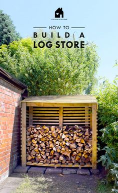 Garden Shed Plans Outdoor Firewood Rack, Firewood Shed, Firewood Storage, Firewood Holder, Diy Log Store, Wood Store, Log Store Plans, Log Shed, Solarium