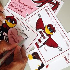 #Gamecocks have a whole lotta love. Let's share it.   Download and print these #Cocky Valentines by visiting www.facebook.com/uofsc  And have a happy Valentine's Day from #UofSC!